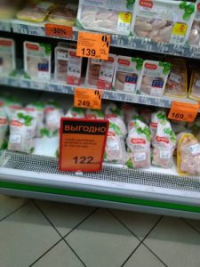 Цены на продукты в Калининграде