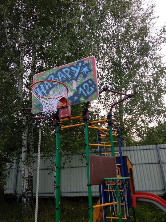 персонализация баскетбольного щита